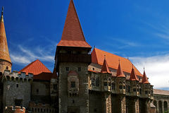 Dracula's Castle 2. Corvins Castle, (XV century), located in Romania, on the Center of Hunedoara City, southwestern part of Transylvania. Known as one of the Royalty Free Stock Photos