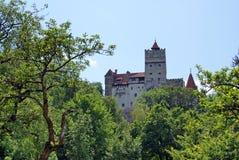 Dracula's castle on the horizon stock photo