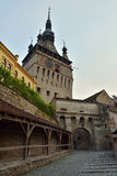 Dracula's Castle. Sigisoara medieval fortress, where Dracula lived a period of his life Royalty Free Stock Photography