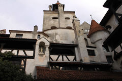 Dracula's Castle in Transylvania. Courtyard Dracula's Castle in Romania Royalty Free Stock Photos
