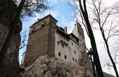 Dracula's Castle in Transylvania. Dracula's Castle in Romania, view from below Royalty Free Stock Photography