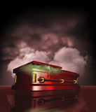Dracula's coffin Royalty Free Stock Photos