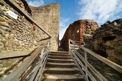 Dracula's fortress at Poienari, Royalty Free Stock Photography