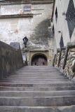 Dracula-` s Schlosseingang Lizenzfreie Stockbilder