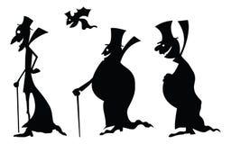 Dracula-Schattenbilder lizenzfreie abbildung