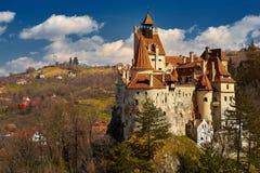 Dracula slott i Rumänien Arkivfoto