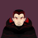 Dracula- und Vampirs-Charakter Lizenzfreies Stockbild