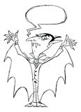 Dracula vampire monster rough sketch Stock Photography