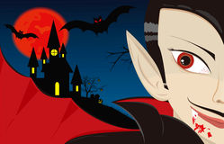Dracula the vampire Stock Images