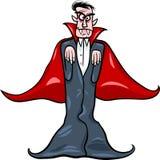 Dracula-Vampirskarikaturabbildung Stockfotos