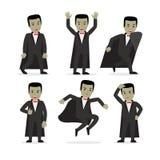 Dracula-Vampirszeichentrickfilm-figur-Vektor Lizenzfreie Stockfotos