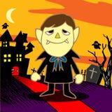 Dracula van de beeldverhaalvampier Stock Afbeelding