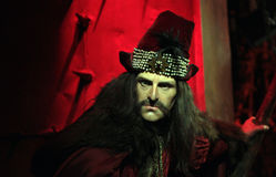 Dracula. (Vlad the Impaler) wax statue at Madame Tussauds in London royalty free stock photos