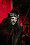 Dracula (Vlad the Impaler). Wax statue at Madame Tussauds in London royalty free stock photo