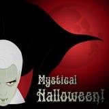 Dracula w blasku księżyca - ilustracja Zdjęcia Royalty Free