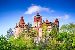 Draculakasteel, Zemelen - Roemenië Transsylvanië royalty-vrije stock foto's