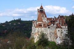 Draculakasteel - Zemelenkasteel, Roemenië Stock Foto's