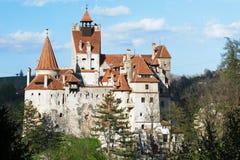 Draculakasteel - Zemelenkasteel, Roemenië Stock Afbeeldingen