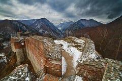 Draculas Festung bei Poienari, Lizenzfreie Stockbilder