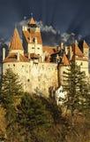 Draculas klislott, Transylvania, Rumänien, Euro Royaltyfri Foto
