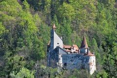 Draculas slott i kli, Transylvania, Brasov, Rumänien Arkivbild
