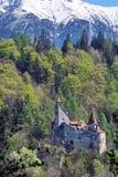 Draculas slott i kli, Transylvania, Brasov, Rumänien Arkivfoton