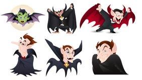 Draculavectoren Royalty-vrije Stock Afbeeldingen