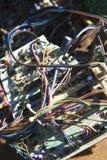 Draden en elektrocomponenten. royalty-vrije stock foto's