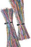 Draden met kabelbanden Stock Afbeeldingen