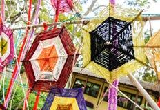 Draden van kleurrijke lokaal Stock Foto's