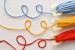 Draden voor borduurwerk stock foto's