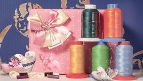 Draden voor het naaien Stock Fotografie