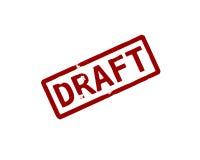 Draft. Rubber ink stamp Stock Illustration