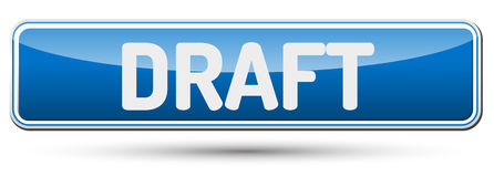 DRAFT - Abstract beautiful button with text. Stock Photos