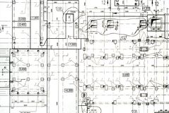 Draft background. A set of architectural construction document, engineering background Stock Photo