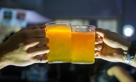 Draft beer brazilian party event. Pub Stock Photography