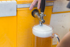 Draft beer dispenser Stock Photo