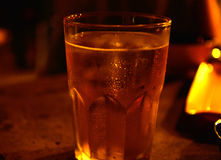 Draft beer by the glass. Royalty Free Stock Photography