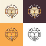 Draft beer Logo Template Stock Image