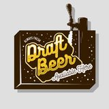 Draft Beer Tap Sign Design For Promotion. Vector Graphic. stock illustration