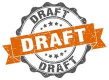 Draft stamp. Draft grunge stamp on white background Stock Image