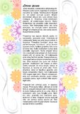 Draft leaflet with colorful pastel flowers Stock Photo