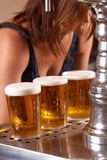 Draft pints Royalty Free Stock Photo