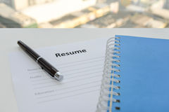Draft of Resume Royalty Free Stock Images