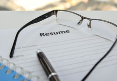 Draft of Resume Stock Images