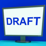 Draft Screen Shows Outline Documents Or Letter Online Stock Photo