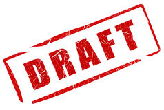 Draft stamp Royalty Free Stock Photos