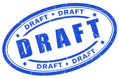 Draft stamp. Isolated over white Stock Image