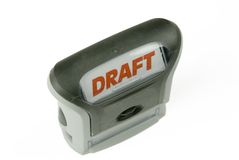 Draft stamp Stock Image