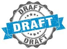 Draft stamp. Draft blue stamp. sign. seal Royalty Free Stock Photo